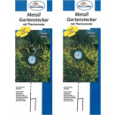 Metall-Gartenstecker mit Thermometer