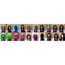wholesale Toys: Carnival wig 10 times assorted