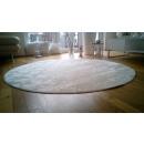groothandel Fournituren & naaigerei: Rond tapijt Damast 160 cm wit