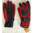 Motorcycle gloves, with mesh insert