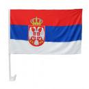 grossiste Cadeaux et papeterie: Drapeau de voiture 30 x 45 Serbie