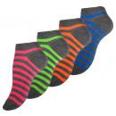 wholesale Stockings & Socks: Women's  Sneaker Socks Sportline  STRIPES