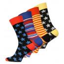 Großhandel Strümpfe & Socken: Vincent Creation® Herren Socken Stars & Stripes
