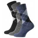 Herren THERMO-Socken super soft mit Karo-Muster