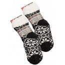 wholesale Shoe Accessories: Cottage sock with  lambskin and ABS-sole Eiskristal