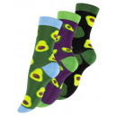 wholesale Stockings & Socks: Women's casual socks with AVOCADO motifs
