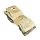 Noors-grof  gebreide sokken met wol, beige-bruin