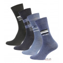 wholesale Jeanswear: He 4'er pack.  Cotton socks with motifs JEANS