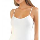 Großhandel Dessous & Unterwäsche: Damen Unterhemd  mit Satinband, Spaghettiträger