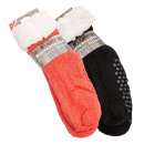 wholesale Shoe Accessories: Cottage sock with  lambskin and ABS-sole uni