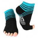 Yoga and pilates toe socks with anti-slip sole