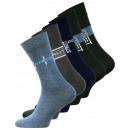 nagyker Ruha és kiegészítők: Férfi pamut zokni  mintás STREET, 5-pack