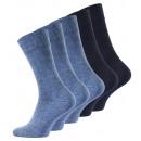 wholesale Stockings & Socks: TOPSELLER Business  Socks in Blue, Pack of 5