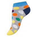 Dames sneaker sokken DOTS met kleurrijke stippen