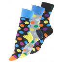 Großhandel Strümpfe & Socken: Vincent Creation® Casual-Socken mit bunten DOTs
