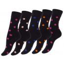 Großhandel Strümpfe & Socken: Damen Baumwoll-Socken CRAZY DOT in ...