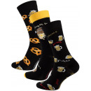 wholesale Stockings & Socks: Men's casual socks with BEER & BREZEL moti