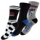 Children's cotton socks with football motifs