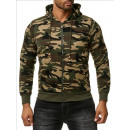 wholesale Coats & Jackets: Men's; SweatJacke Army Sweatjacket 8769