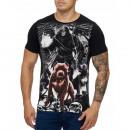ingrosso T-shirts & Tops: Uomo T-Shirt shirt TUR-3260 nero