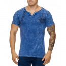 wholesale Fashion & Mode: Men's Short  Sleeve T-Shirt TUR-1030 Blue