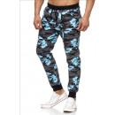wholesale Sports Clothing: Men / Men's  Jogging Pants SS-30 Blue