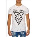 Großhandel Shirts & Tops: Herren Kurzarm T-Shirt SS-43 White