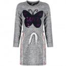 Lányos ruha tunika ruha pillangószürke szürke