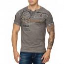 wholesale Shirts & Tops: Men's T-Shirt Shirt TUR-3145 Gray