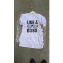 Kinderkleding T-shirt jongens Boss White
