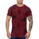 mayorista Ropa / Zapatos y Accesorios: Camisa de los  hombres T-Shirt TUR-991 Rojo