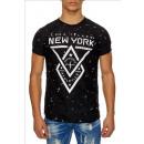 Großhandel Shirts & Tops: Herren Kurzarm T-Shirt SS-43 Black