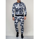 groothandel Sportkleding: Mens Jogging Sweat  Suit Set TUR-962 Camou White