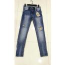 wholesale Jeanswear: Ladies Large Size Jeans Pants 3075