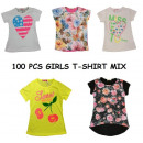 Children girl  T-SHIRT MIX 100 pieces