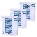 Tablettenbox weiss/blau Pillendose Tablettendose