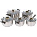 grossiste Pots & Casseroles: POTS, les casiers,  acier inoxydable, 10 éléments