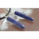 Lapis lazuli  pendant with eyelet lace