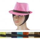 Ladies hats CM-82 Mix Colors 6 Pieces Size 52