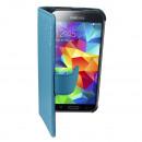 Coque Cuir2 Samsung i9600 Galaxy S5 / Plus Bleu