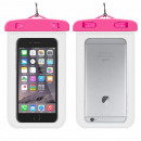 groothandel Telefoonhoesjes & accessoires: Hoesje Waterproof  #2 Universeel Transparant Roze