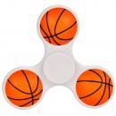 hand spinner Basketball blanc