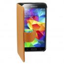 groothandel Computer & telecommunicatie: Hoesje Leather2  Samsung i9600 Galaxy S5/Plus Bruin