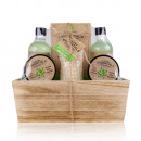 Gift set OLIVE in wooden basket