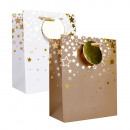 Paper bag size M with gold stars