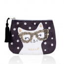 Small velvet cosmetic bag CAT