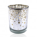 wholesale Wind Lights & Lanterns: Large glass wind light with stars motif
