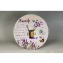 wholesale Other: Round plastic  plate with lavender design