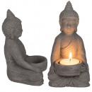 Cement tealight holder Buddha