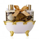 wholesale Bath Furniture & Accessories: Bath set BODY LUXURY in ceramic bathtub